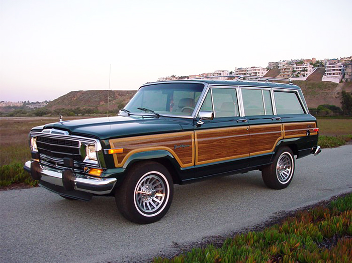 Restored Jeep Grand Wagoneer Red Clay Soul Green
