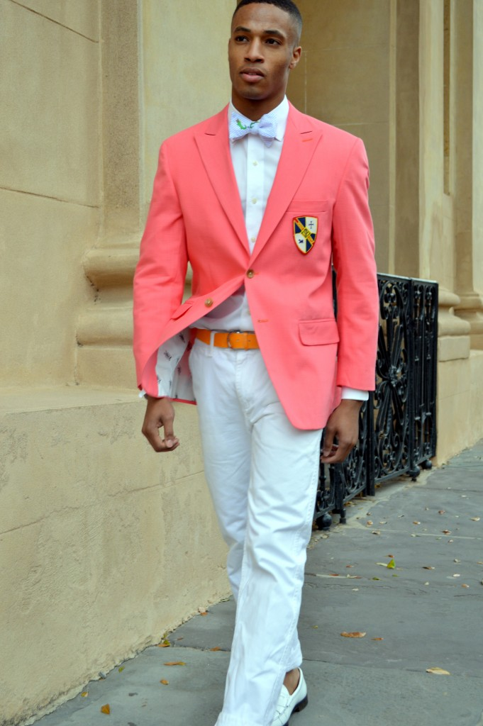 Peach Blazer Mens Tulips Clothing