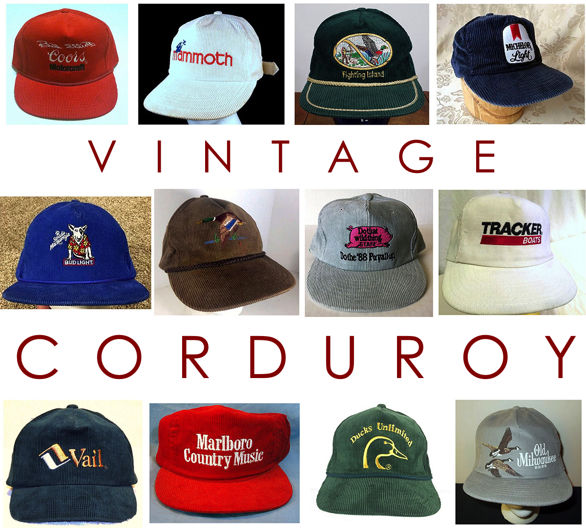 Eye Candy  Vintage Corduroy Hats » Red Clay Soul 7b198f22b0e
