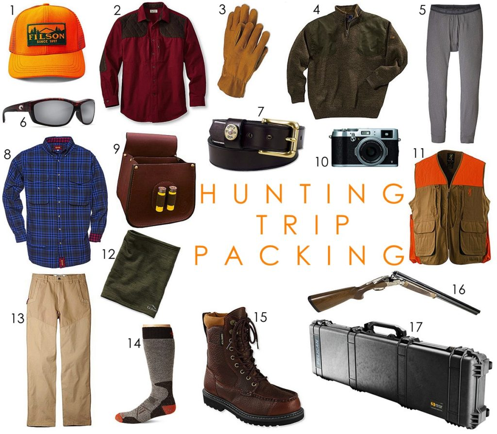 Hunting Trip Packing