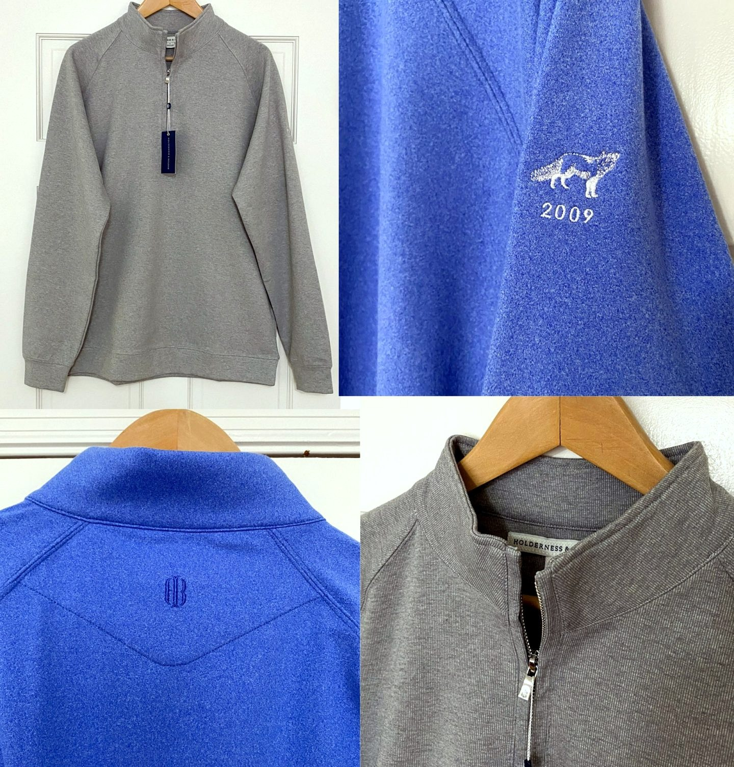 NOW AVAILABLE: The Holderness & Bourne X RCS Member Logo Quarter Zips